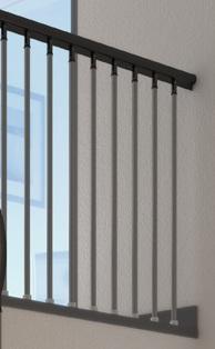 Horní zábradlí - prodlužovací set 1m pro schody DOLLE VALENCIA
