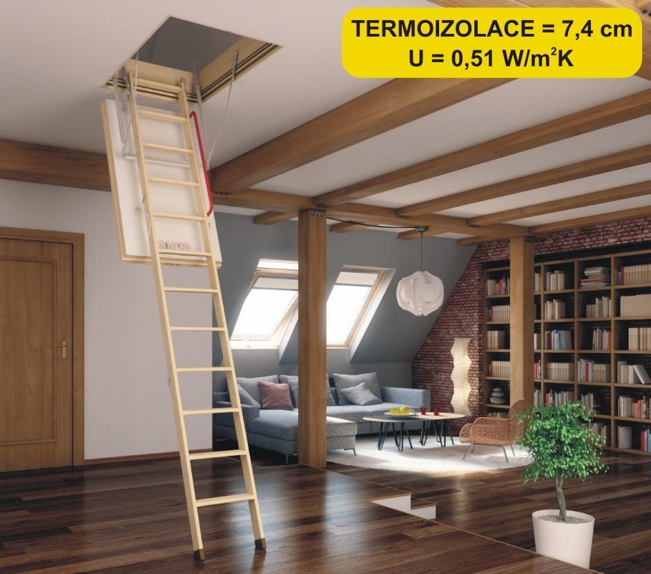 Půdní schody superizolační FAKRO LWT-280 70x120
