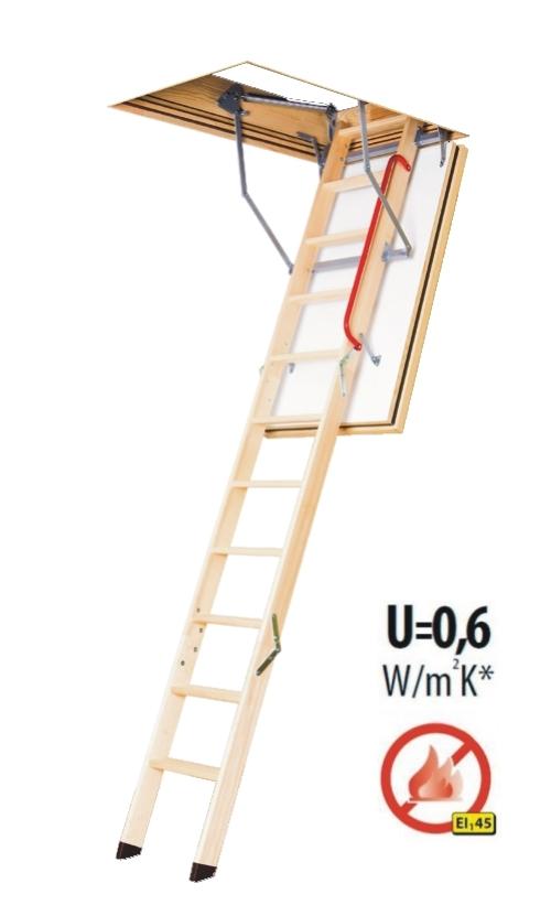Půdní schody protipožární FAKRO LWF 45-280 70x120