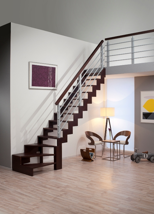 Zábradlí na schody DOLLE Genf - ořech, 2m