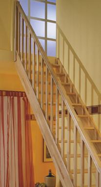 Zábradlí s rovnými výplněmi pro schody PARIS - Smrk