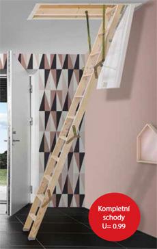 Půdní schody Click FIX MINI 36, 92,5x60, 280 cm