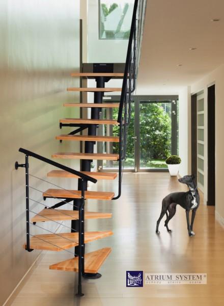 Modulové schody DIXI Corner do 286cm - Olše